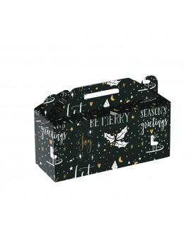 COFFRET CARTON BOX NOEL NOIR ET OR - Mini commande 40p