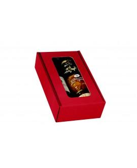 COFFRET CARTON ROUGE 2 BOUTEILLES AVEC FENETRE Mini cde 40p