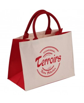 SAC COTON NATUREL+ROUGE 'Terroirs'