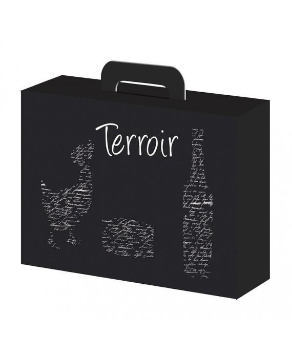 VALISETTE CARTON 'Terroir' NOIR'  Mini commande 50p
