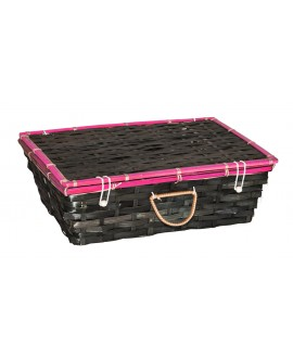 VALISE RECT. BAMBOU GRIS/ROSE