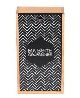 COFFRET BOIS 2 BOUTEILLES BOITE G