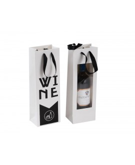 SAC CARTON BLANC/NOIR 'WINE'