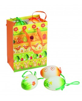 SAC EN PAPIER COLORE ORANGE