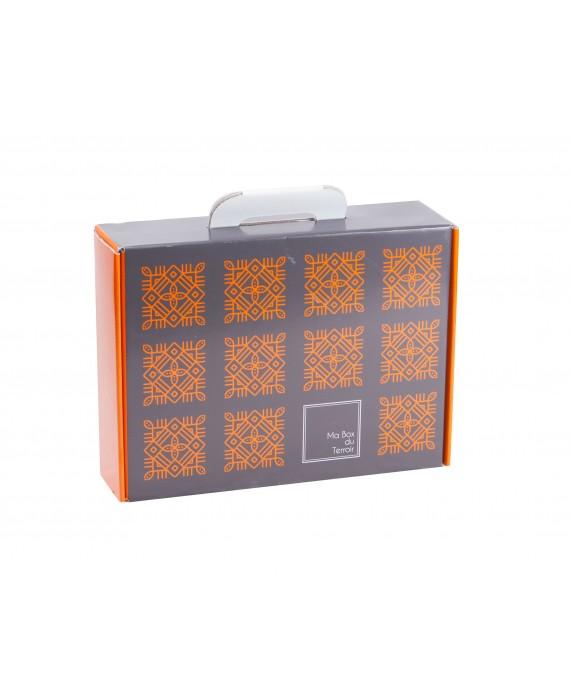 VALISETTE CARTON LOGO 'MA BOX TERROIR'  Mini commande 50p