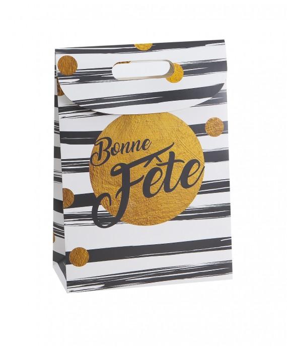 BOITE CARTON DECO 'BONNE FETE'