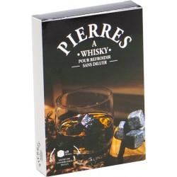 COFFRET 9 PIERRES A WHISKY+SACHET DE RANGEMENT VELOURS NOIR