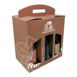 COFFRET CARTON KRAFT POUR 6 BIERES TYPE STEINIE.Mini 50p