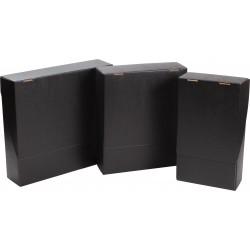 COFFRET CARTON NOIR POUR 2 BOUTEILLES Mini commande 30p