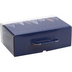 VALISETTE CARTON SAPINS BLEUS - Mini commande 40p